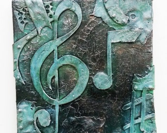 musical note #1  sculptural wall art