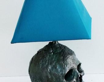 skull lamp base