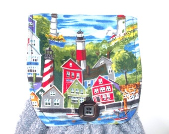 Lighthouse Fabric Topped Double T-Towel,Your Choice, Extra Heavy Hand Towel or Med. Weight Hand Towel,Lighthouse Collector