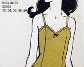 Uncut, Sizes 32 34 36 38 40 Vintage Ladies Camisole Lingerie, Sew Lovely CA 400, Sewing Pattern, 1970
