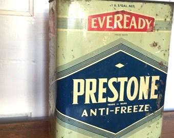 Old Prestone Tin