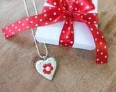 Flower Pendant - Heart Pendant