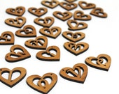 Pick 6 - Mini Heart Wood Monogram - Sustainable Wisconsin Wood from Timber Green Woods