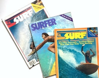Surfing & SURF Magazine - 3 Issues from 1978 - Vintage Surfing Coolness - Rare Issues - Great Gift for Surf Dude