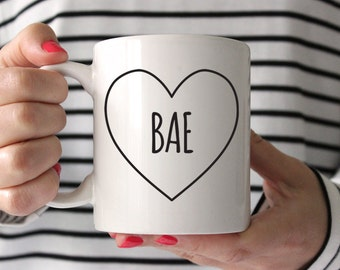 Anniversary Gift for Wife Gift Anniversary Gifts for Girlfriend Gift Bae Coffee Mug Gift for Husband Anniversary Gifts for Her