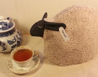 Sheep tea cozy, tea cosy: Samuel the sheep cozy