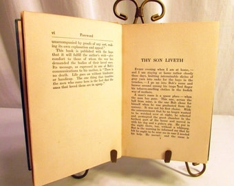 1918 Thy Son Liveth. First Edition Published Anonymously. Dust Jacket. Written by Grace Duffie Boylan. Vintage Rare Scare Hardback Book