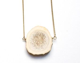 Antler Slice Necklace