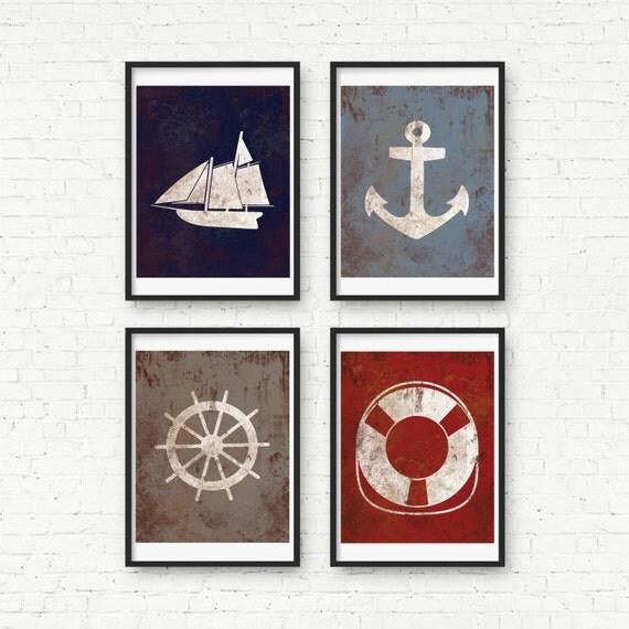 Baby Nash S Vintage Nautical Nursery: Vintage Nautical Nursery Art Nautical Ship By Littleredflag