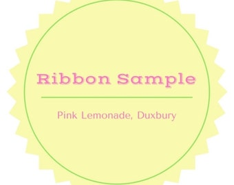 Grosgrain Ribbon Sample ~ Choose Your Color Ribbon Sample