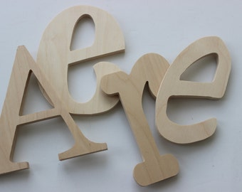 unfinished wooden letters diy decorate yourself nursery home decor wedding wall letter price per letter crafts