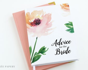 Advice for the Bride Journal, Guest Book, Bridal Shower | Melody Collection