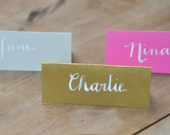 Colourful Handwritten Place Cards for Weddings and Events (Colours priced per card)