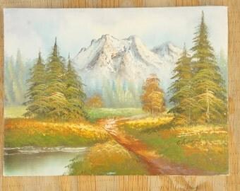 Vintage 80s-90s Original Painting Art Work Landscape Woodland Wall Art
