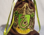 Reserved for Tom Barton Custom Slytherin Embroidered Tarot Bag/Pouch