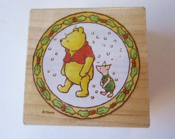 rubber stamp - A Walk In the Snow - Winnie the Pooh, All Night Media Disney 769F