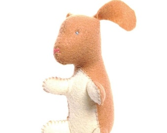 ON SALE Bunny rabbit stuffed animal- Tan with cream