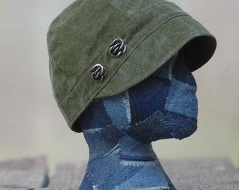 Reclaimed Military Newsboy hat