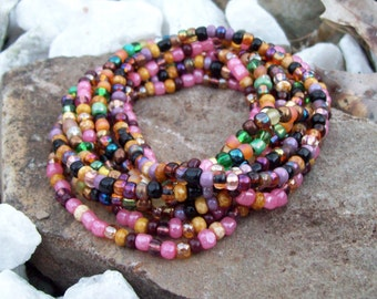Stretch Beaded 9 Stack bracelet set, Festival Bracelets, Colorful beaded bracelets, Boho, Hippie, layering bracelets