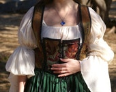 off white gauze blouse for renaissance pirate elizabethan gypsy
