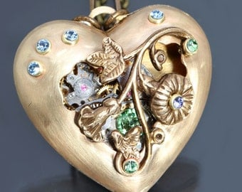 Steampunk Heart Necklace Heart Necklace Steampunk Pendant Steampunk Necklace