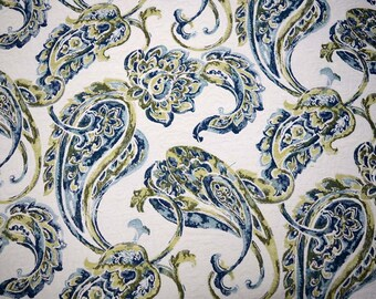 Eden Turquoise Paisley Fabric