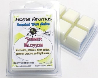 SUMMER BLOSSOM Wax Melt - 6 breakaway cubes - soy blend - clamshell type