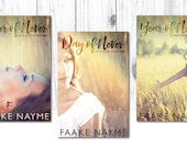 "Series Premade Digital eBook Book Cover Design Trilogy ""Never Series"" Young Adult YA Girl Nature Teen Romance"