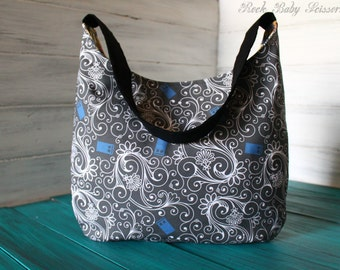 Design Your Own Custom Made Police Box Hobo Bag with Adjustable Strap and multiple Inside Pockets