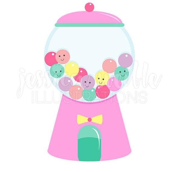 Girly Gumball Machine Cute Digital Clipart, Gumball Clip art ...