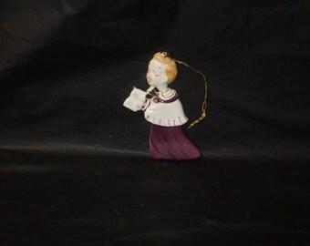 Vintage Japan Ceramic YONA Christmas Choir Boy Caroler Ornament