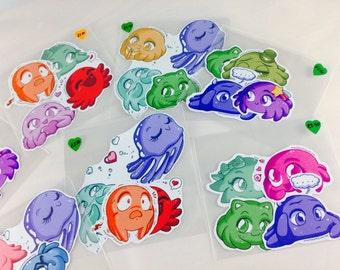 BIOMECHA series - Squishy-chan character sticker pack
