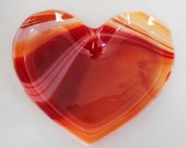 SMALL VALENTINE FUSED Glass - Heart Shaped Dish, Valentine Candy Dish, Under 20, Heart Dish, Heart of Glass, Heart Ring Dish, Gift for Her