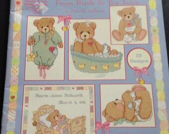 Cherished Teddies From Birth To Ten Years Cross Stitch Book