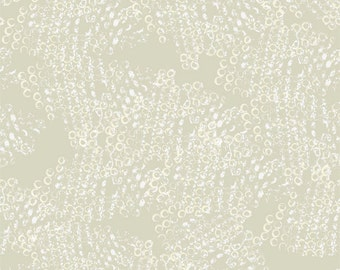 A Time to Mend from In the Beginning - Full or Half Yard Khaki and Cream Beaded Glass Dot Blender