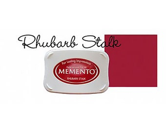 Memento Dye Full Size Water Based Ink Pad RHUBARB STALK  Red, Russet