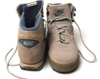 1970's NIKE Hiking Boots with Waffle Sole, ...