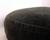 Dog Bed Cover  Soft Dark Dark Charcoal Upholstery 26 round