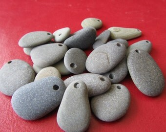 22, Surf Tumbled Stone Pendants or Charms
