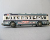Vintage Metal Toy Bus, Marx, Airport Transportation, friction toy