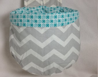 Stay Put Pouch Bunk Bed  Caddy Gray Chevron
