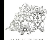 Art of Dachshund Coloring Book Volume No. 2 - Physical Book