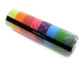 MASTE rainbow washi masking tape set - set of 8 chevron, grid, stripes & polka dots- Japanese washi tape