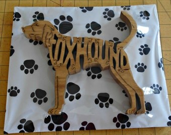 American Foxhound Handmade Fretwork Wood Jigsaw Puzzle