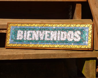 Custom Mosaic Sign / Plaque - Name, Address, Save the Date - Indoor / Outdoor Signs