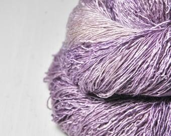 Crocus time is over OOAK - Tussah Silk Fingering Yarn
