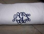 Monogrammed  BRIDESMAIDS ROBE personalized wedding robe waffle weave robe
