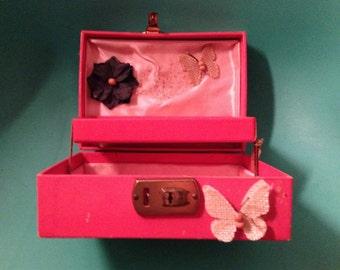 Retro Pink Jewelry Box