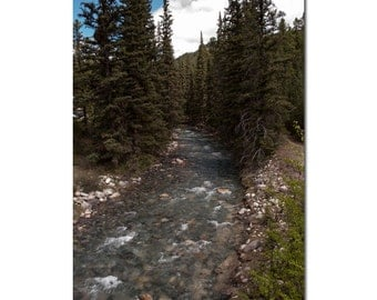 Landscape Photography,  Canadian Lake House Art, Turquoise Wall Decor for Spa, Mountain Lodge Accent, Home Office Waterscape Print Gift