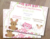 Dreams, Baby Shower Invitations or Birthday Invitations, Set of 10 Printed Invitations with envelopes
